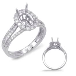 S. Kashi White Gold Engagement Ring (EN7655-8X6MWG)