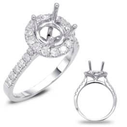 S. Kashi Platinum Halo Engagement Ring (EN7694-125PL)