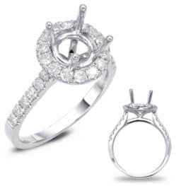 S. Kashi White Gold Halo Engagement Ring (EN7694-75WG)