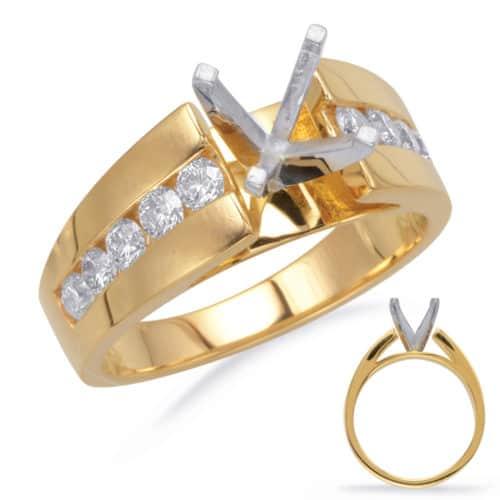 S. Kashi Yellow Gold Engagement Ring (EN7764YG)