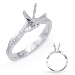 S. Kashi White Gold Engagement Ring (EN7770WG)