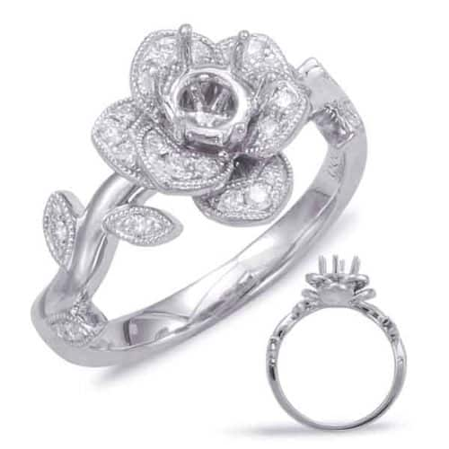 S. Kashi White Gold Halo Engagement Ring (EN7818-1WG)