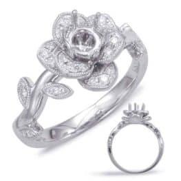 S. Kashi White Gold Halo Engagement Ring (EN7818-75WG)