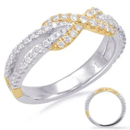 S. Kashi White & Yellow Gold Matching Band (EN7825-BYW)