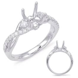 S. Kashi White Gold Engagement Ring (EN7831-125WG)