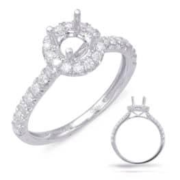 S. Kashi White Gold Halo Engagement Ring (EN7849-75WG)
