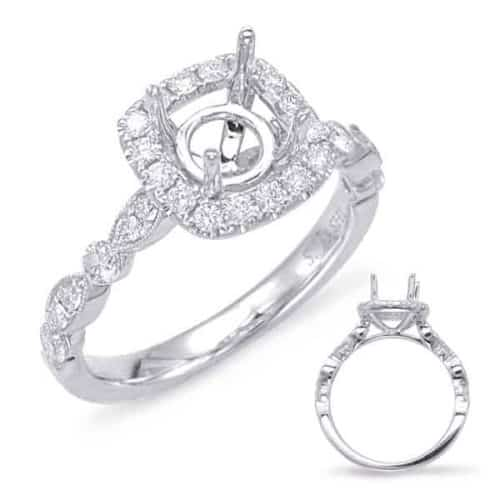 S. Kashi White Gold Halo Engagement Ring (EN7866-1WG)