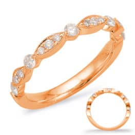 S. Kashi Rose Gold Matching Band (EN7866-B10RG)