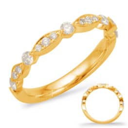 S. Kashi Yellow Gold Matching Band (EN7866-B50YG)