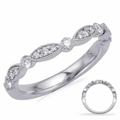 S. Kashi White Gold Matching Curved Band (EN7866-BC10WG)