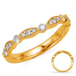 S. Kashi Yellow Gold Matching Curved Band (EN7866-BC10YG)