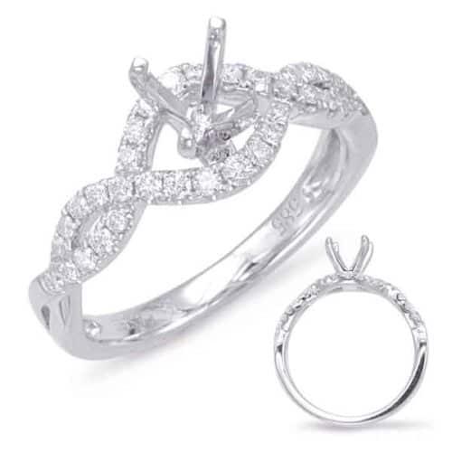 S. Kashi White Gold Halo Engagement Ring (EN7869-33WG)