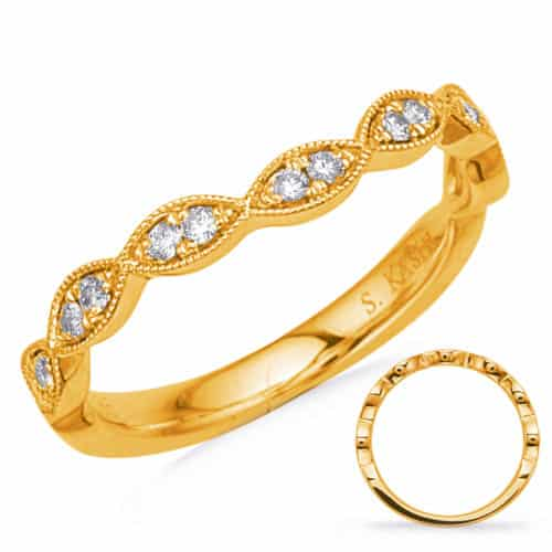 S. Kashi Yellow Gold Matching Band Curved (EN7897-BCYG)