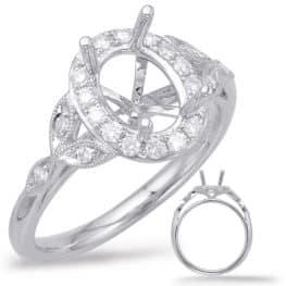 S. Kashi White Gold Halo Engagement Ring (EN7930-5X3MWG)