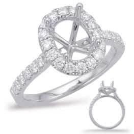 S. Kashi White Gold Halo Engagement Ring (EN7936-8X6MWG)