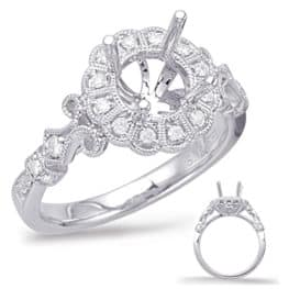 S. Kashi White Gold Halo Engagement Ring (EN7946-1WG)