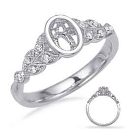 S. Kashi White Gold Engagement Ring Bezel Head (EN7958-8X6MWG)
