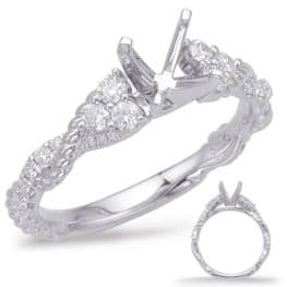 S. Kashi White Gold Engagement Ring (EN7969-75WG)