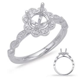 S. Kashi White Gold Halo Engagement Ring (EN8038-33WG)