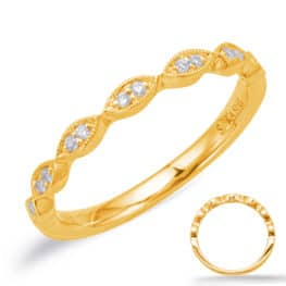 S. Kashi Yellow Gold Matching Band (EN8038-B75YG)