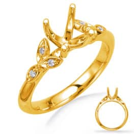 S. Kashi Yellow Gold Engagement Ring (EN8042-75YG)