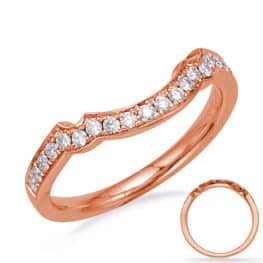 S. Kashi Rose Gold Wedding Band (EN8043-B10X5MRG)