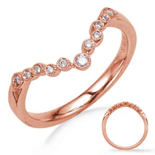 S. Kashi Rose Gold Diamond Wedding Band (EN8044-B7X5MRG)