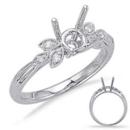 S. Kashi White Gold Engagement Ring (EN8050-25WG)