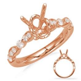 S. Kashi Rose Gold Engagement Ring (EN8055-7X5MRG)