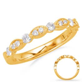 S. Kashi Yellow Gold Matching Band (EN8055-B50YG)