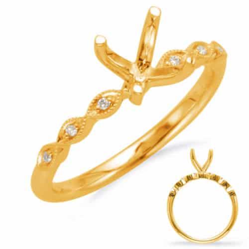 S. Kashi Yellow Gold Engagement Ring (EN8096-50YG)