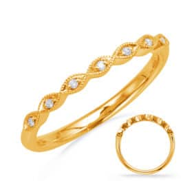 S. Kashi Yellow Gold Matching Band (EN8096-BYG)