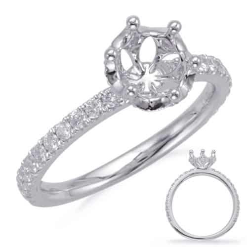S. Kashi White Gold Engagement Ring (EN8105-1WG)