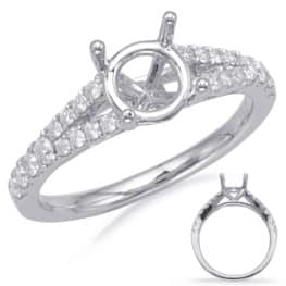 S. Kashi White Gold Engagement Ring (EN8111-1WG)