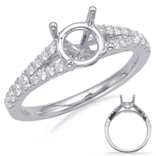 S. Kashi White Gold Engagement Ring (EN8111-1WG)