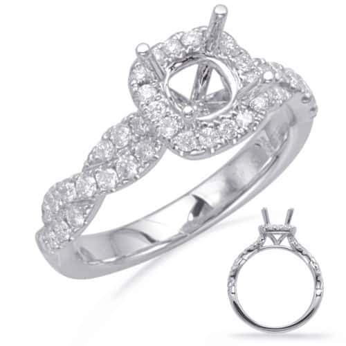 S. Kashi White Gold Halo Engagement Ring (EN8116-5.0MWG)