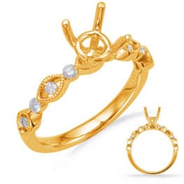 S. Kashi Yellow Gold Diamond Engagement Ring (EN8133-50YG)