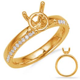 S. Kashi Yellow Gold Engagement Ring (EN8136-50YG)