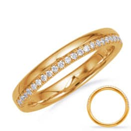S. Kashi Yellow Gold Matching Band (EN8136-BYG)