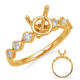 S. Kashi Yellow Gold Engagement Ring (EN8139-50YG)