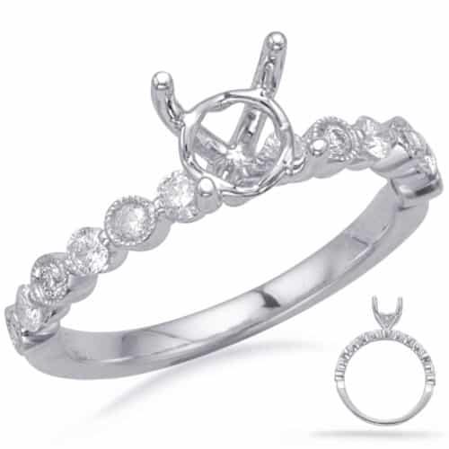 S. Kashi White Gold Engagement Ring (EN8147-1WG)