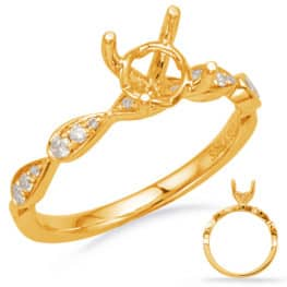 S. Kashi Yellow Gold Engagement Ring (EN8156-50YG)