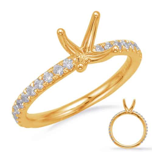 S. Kashi Yellow Gold Engagement Ring (EN8202-2YG)