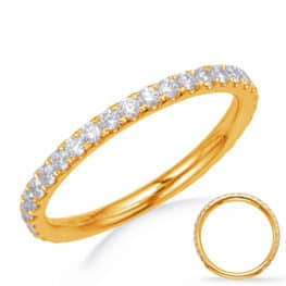 S. Kashi Yellow Gold Wedding Band (EN8202-BYG)