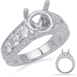 S. Kashi White Gold Engagement Ring (EN8218-2WG)