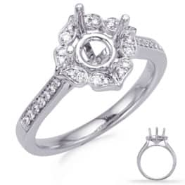 S. Kashi White Gold Halo Engagement Ring (EN8227-1WG)