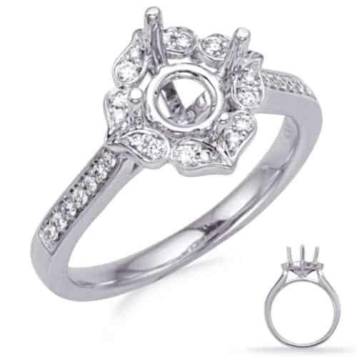 S. Kashi White Gold Halo Engagement Ring (EN8227-1WG)