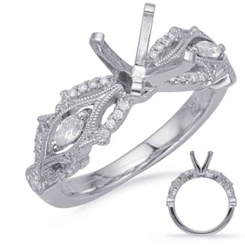 S. Kashi White Gold Engagement Ring (EN8228WG)