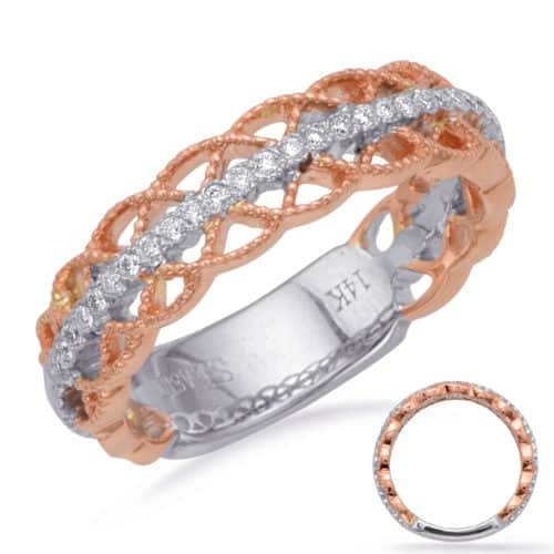 S. Kashi Rose & White Gold Matching Band (EN8230-BRW)