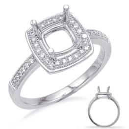 S. Kashi White Gold Halo Engagement Ring (EN8232-6.0MWG)